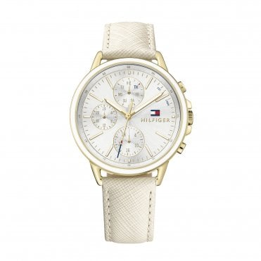 Womens Carly Silver White & Nude Pink Watch