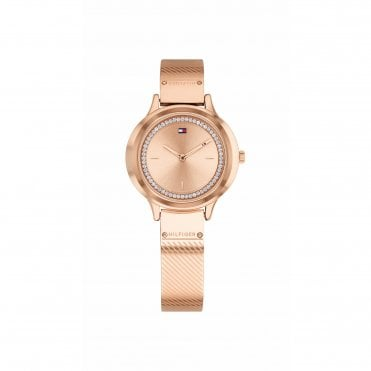 Womens Olivia All Rose Gold Bangle Watch