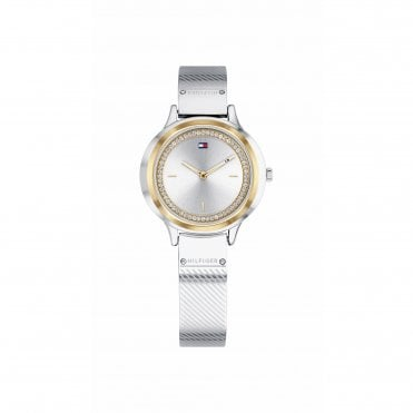 Womens Olivia Silver Rose Gold & Silver Bangle Watch