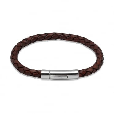 Aged Tan Leather Bracelet 21cm - A40ATA