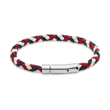 Gbr Leather Bracelet & Steel Clasp 19cm - A40GBR