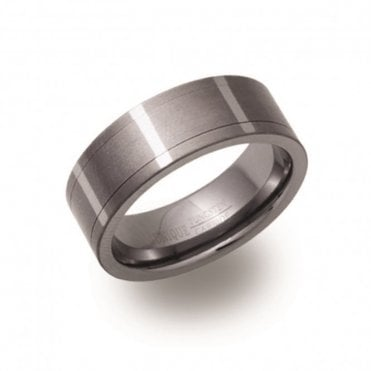 Tungsten Carbide Spinning 8mm Ring, Size 62