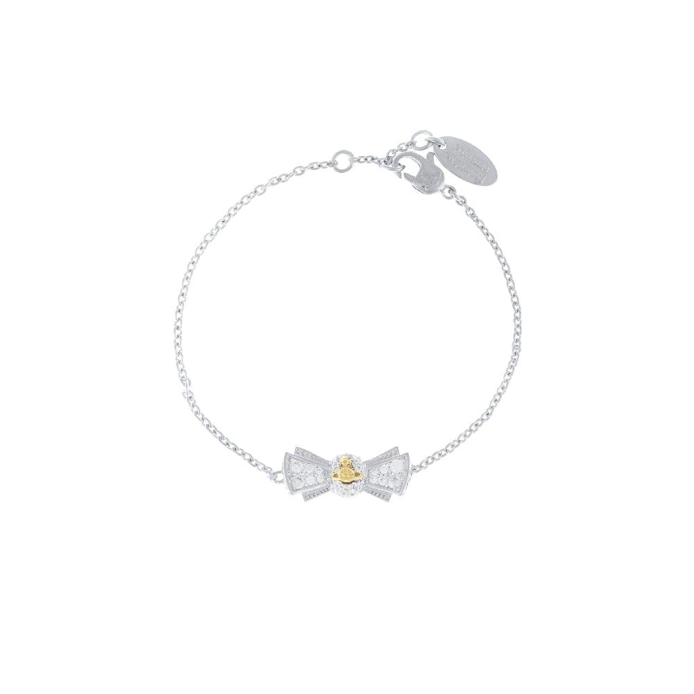 Gold Orb White CZ Pamela Small Bracelet