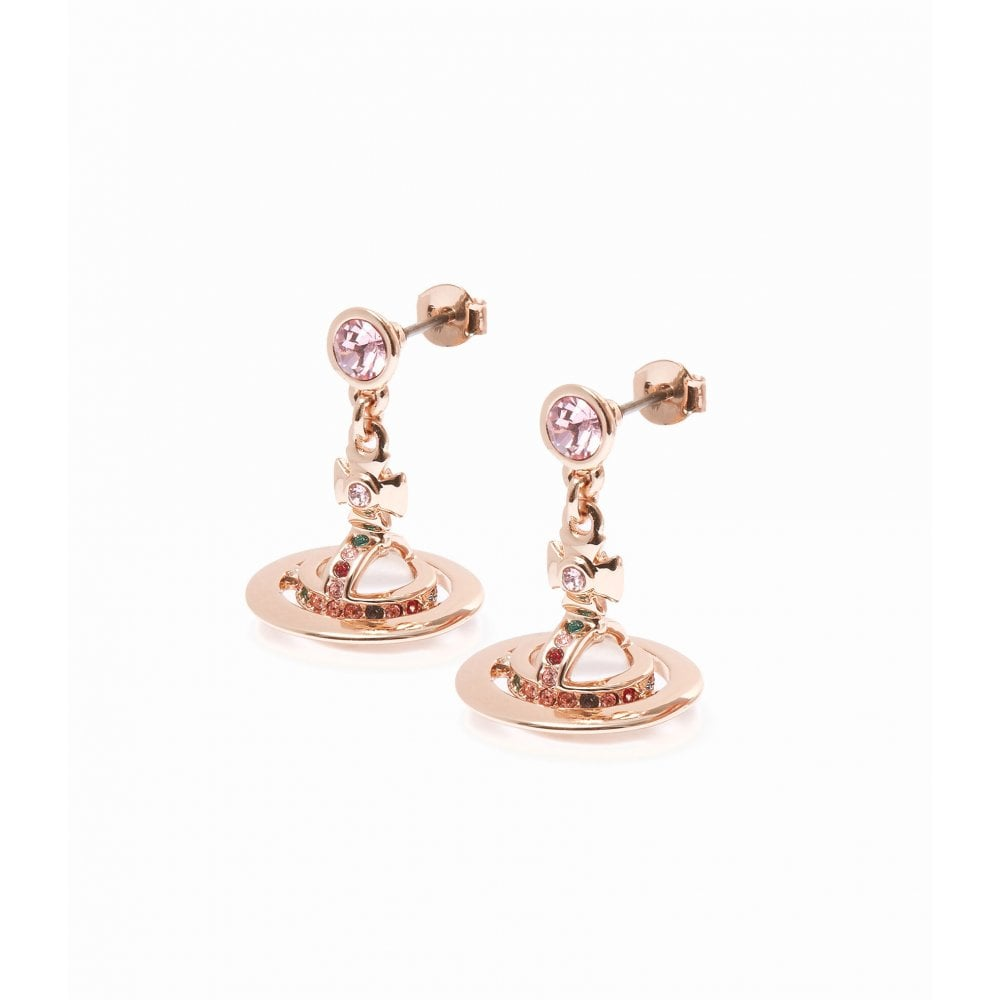 Orb Sparkle Gold Earrings With Pouch Brand New