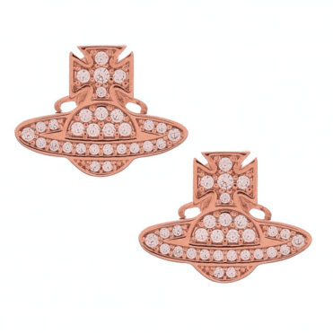 Pink Gold and Pink Romina Orb Earrings