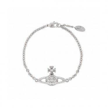 Rhodium Silver and Crystal Mayfair Bas Relief Bracelet