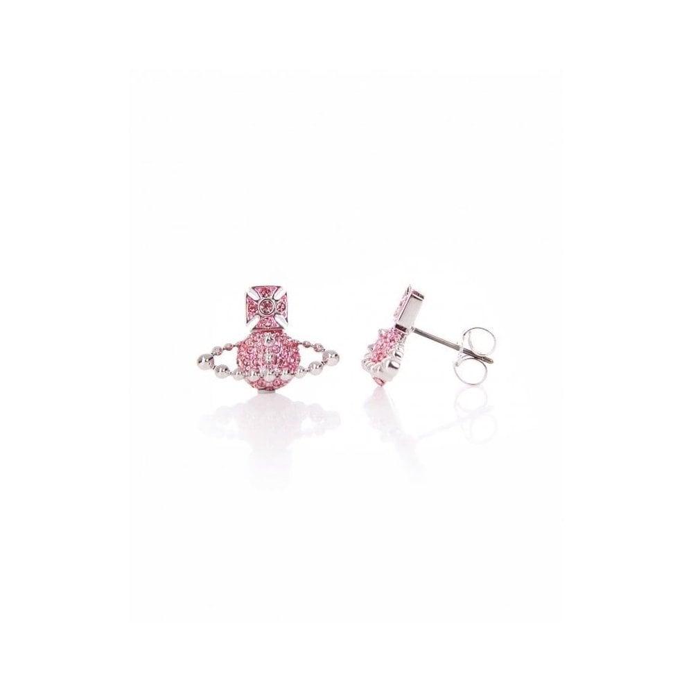 1ae0e6dbf0d1e4 VIVIENNE WESTWOOD Rhodium Silver Light Rose Crystal Lena Bas Relief ...