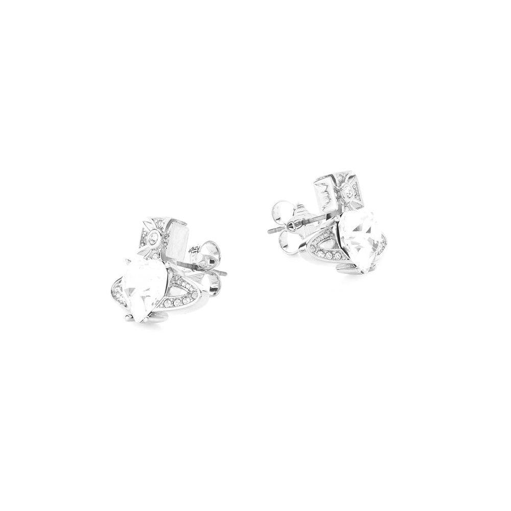 2e660ad11 VIVIENNE WESTWOOD Rhodium Silver and White CZ Ariella Heart ...