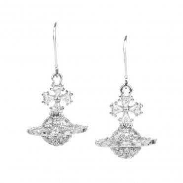 2d67f7bdc Rhodium Silver and White CZ Irina Orb Earrings. Vivienne Westwood ...
