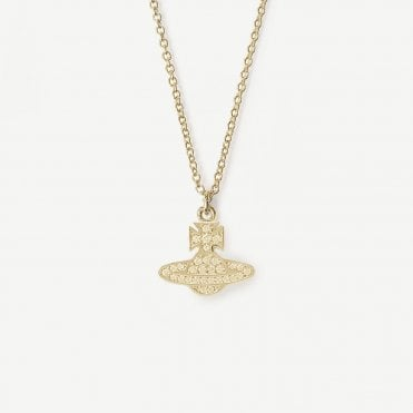 Yellow Gold Toned CZ Romina Pendant Necklace