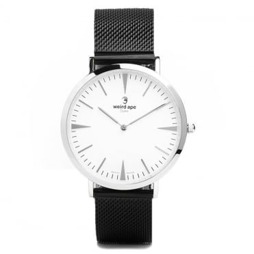 Duke White Silver & Mesh Black Watch