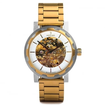 Kolt White Gold & Gold Link Skeleton Watch