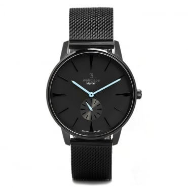 Mayfair Black Blue & Black Mesh Watch