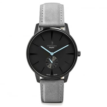 Mayfair Black Blue & Slate Grey Suede Watch
