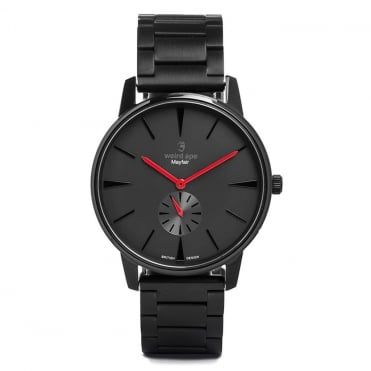 Mayfair Black Red & Black Link Watch