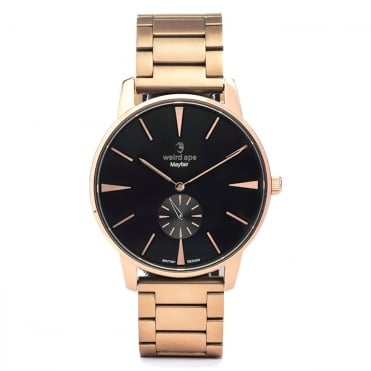 Mayfair Black Rose Gold & Rose Gold Link Watch